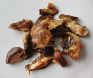 shiitake champignons op zijn duits